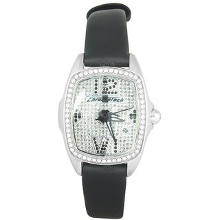 Chronotech Oval Dial Black Analog Watch For Women-Ct7930Ls39