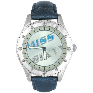 Miss Sixty Round Dial Black Analog Watch For Women-R6003