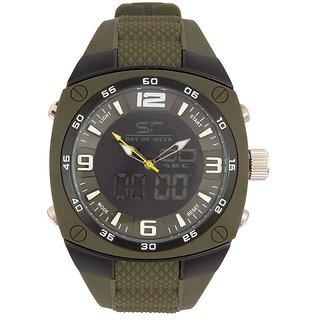 Revv Round Dial Green Analog-Dight For Men-Gi8202Wblackgreen