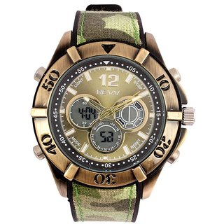 Revv Round Dial Army Analog-Dight For Men-Gi8205Warmyarmy