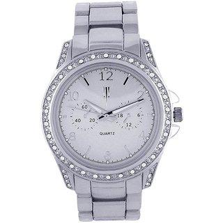 Tichino Round Dial Silver Analog Watch For Women-Gi7500Wsilversilver