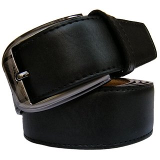 Men Formal PU Leather Black Belt