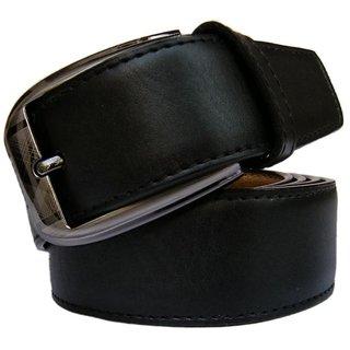 Men Formal PU Leather Black Belt
