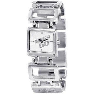 Miss Sixty Square Dial Silver Analog Watch For Women-Sn9002