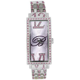 Blumarine Rectangle Dial Silver Analog Watch For Women-Bm3069Ls63M
