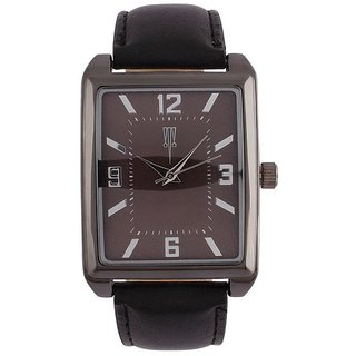 Tichino Rectangle  Dial Black Analog Watch For Unisex-Gi8208Wblackblack