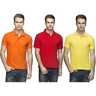 MEN'S POLO T SHIRT( pack of 3 )