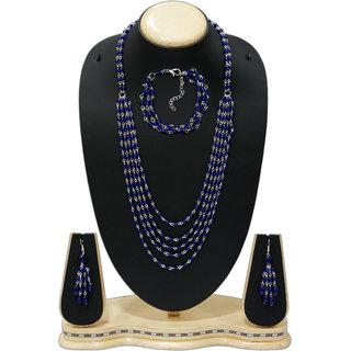 Urban Trendz  Multistranded Beaded Necklace set with earrings  Bracelet UT10187