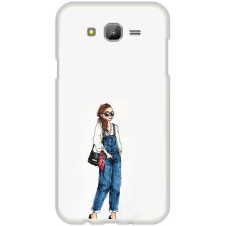 ifasho Girl in jeans Back Case Cover for Samsung Galaxy On 7Pro