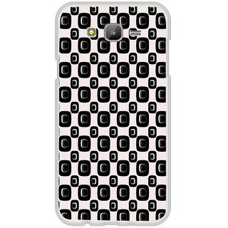 ifasho Modern Theme of black and white Squre and dots pattern Back Case Cover for Samsung Galaxy On 7Pro