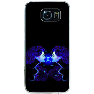 ifasho zodiac sign gemini Back Case Cover for Samsung Galaxy S6 Edge