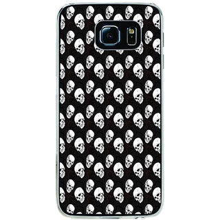 ifasho Modern  Design skeleton Pattern Back Case Cover for Samsung Galaxy S6 Edge