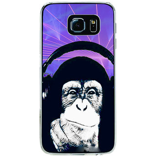 ifasho Monkey with headphone Back Case Cover for Samsung Galaxy S6 Edge