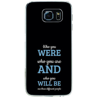 ifasho Philosophical Messge Back Case Cover for Samsung Galaxy S6 Edge