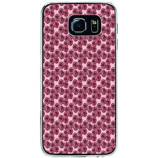 ifasho Animated Pattern small purple rose flower Back Case Cover for Samsung Galaxy S6 Edge