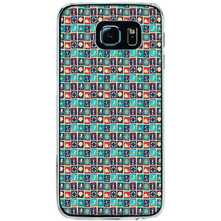 ifasho Modern Art Design Pattern with Lot Of small anchor and animal Back Case Cover for Samsung Galaxy S6 Edge