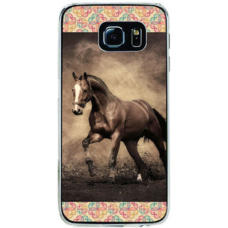 ifasho Brown Horse Back Case Cover for Samsung Galaxy S6