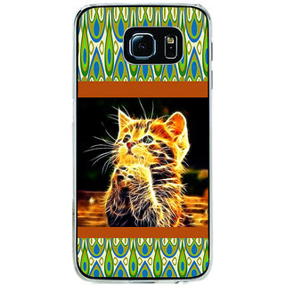 ifasho Cat with big eyes animated designed Back Case Cover for Samsung Galaxy S6