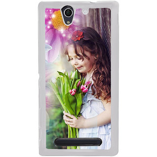 ifasho Girl with flower in hand Back Case Cover for Sony Xperia C4