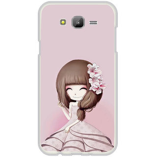 ifasho Cute Girl with Ribbon in Hair Back Case Cover for Samsung Galaxy On 7Pro