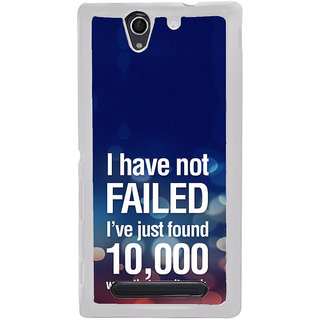 ifasho quotes on success Back Case Cover for Sony Xperia C4