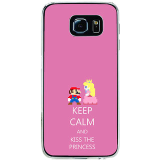ifasho Nice Quote On Keep Calm Back Case Cover for Samsung Galaxy S6 Edge