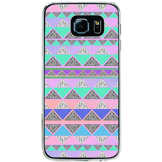ifasho multi color Triangular Pattern Back Case Cover for Samsung Galaxy S6