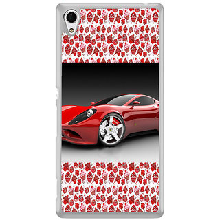 ifasho Stylish RED Car Back Case Cover for Sony Xperia M4 Aqua