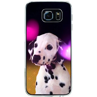 ifasho Black and White Dot Dog Back Case Cover for Samsung Galaxy S6