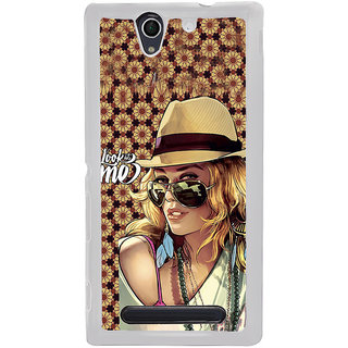 ifasho Look at me Girl Back Case Cover for Sony Xperia C4