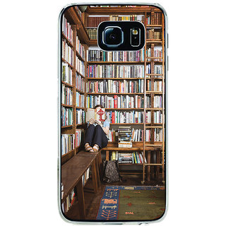 ifasho colrful design library pattern Back Case Cover for Samsung Galaxy S6 Edge