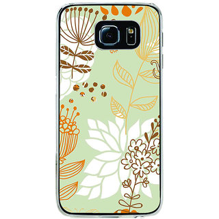 ifasho Animated Pattern painting colrful design cartoon flower with leaves Back Case Cover for Samsung Galaxy S6 Edge