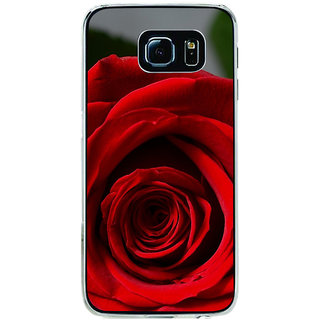 ifasho Red Rose Back Case Cover for Samsung Galaxy S6 Edge