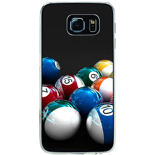 ifasho Design colourful biliards ball pattern Back Case Cover for Samsung Galaxy S6 Edge