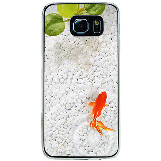 ifasho Fish in water with stone acquarium Back Case Cover for Samsung Galaxy S6 Edge