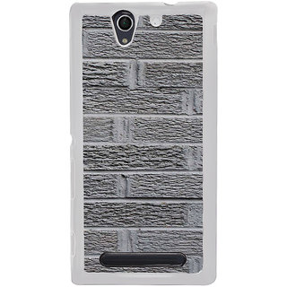 ifasho Brikcs Modern Design Back Case Cover for Sony Xperia C4