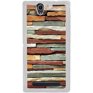 ifasho Rough Stone Graphics Back Case Cover for Sony Xperia C4