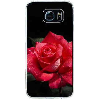 ifasho Red Rose Back Case Cover for Samsung Galaxy S6