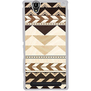 ifasho Triangular Pattern Back Case Cover for Sony Xperia T2