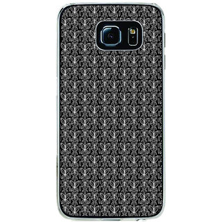 ifasho Animated Pattern black and white butterfly Back Case Cover for Samsung Galaxy S6 Edge