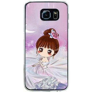ifasho Princess Girl Back Case Cover for Samsung Galaxy S6