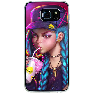 ifasho Girl drinking cold drink Back Case Cover for Samsung Galaxy S6