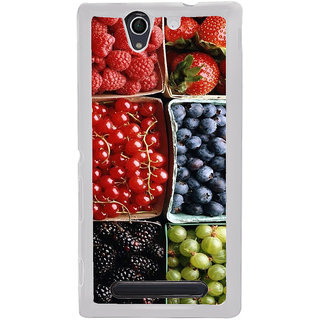 ifasho Fruits pattern Back Case Cover for Sony Xperia C4