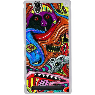 ifasho Modern Art Om design pattern Back Case Cover for Sony Xperia T2