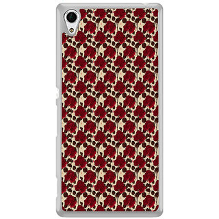 ifasho Animated Pattern rose flower with leaves Back Case Cover for Sony Xperia M4 Aqua
