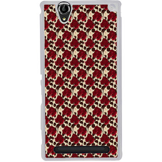 ifasho Animated Pattern rose flower with leaves Back Case Cover for Sony Xperia T2
