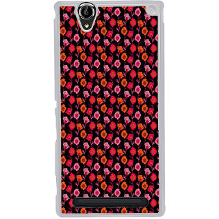 ifasho Animated Pattern design many small flowers  Back Case Cover for Sony Xperia T2