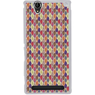 ifasho Animated Pattern colrful design leaves Back Case Cover for Sony Xperia T2