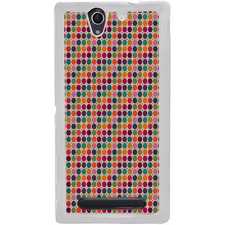 ifasho Animated Pattern  littel and Big colourful Circle Back Case Cover for Sony Xperia C4
