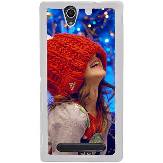 ifasho Little girl laughing Back Case Cover for Sony Xperia C4
